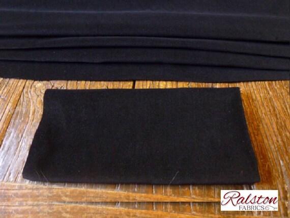 Pré coupe / cinq mètres pièce de coton couture velours noir / coupe Veleveteen. 112cms large, 240gsm. Poil court 6589a7