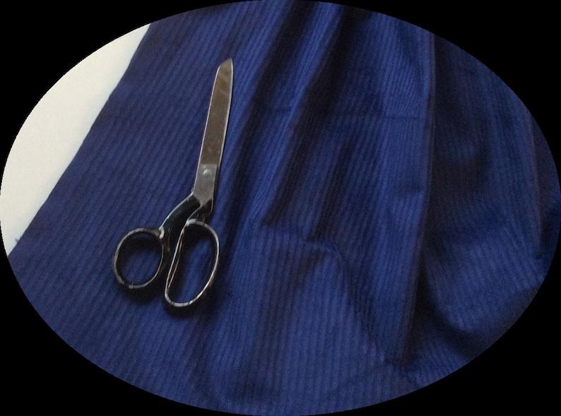 1 Metre NAVY BLUE  Cotton Jumbo  Corduroy  Fabric 112 cms CLEARANCE 6 Wale