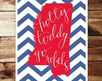 Ole Miss: Go Rebels Print