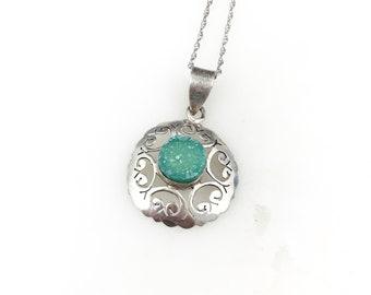 # 1431 Druzy Crystal Sterling Silver Pendant