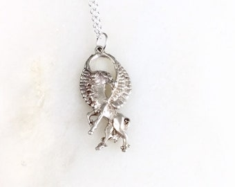 Pegasus Necklace 925 Sterling Silver 200218