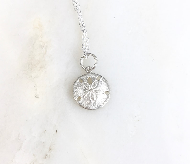 One Sterling Silver Sand Dollar Made in the USA SC5