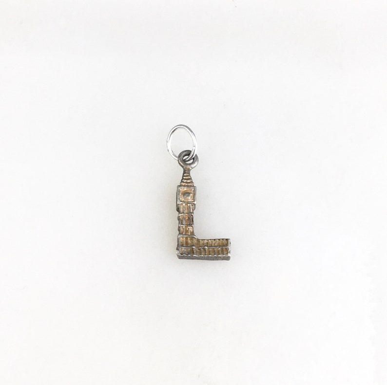 Vintage 925 Sterling Silver Big Ben London England Charm Pendant Necklace