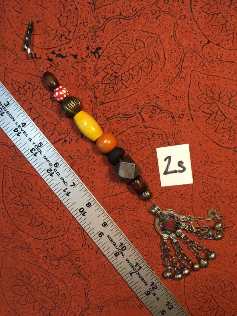 No. 2 Single Strand Jack Sparrow Jewelry Kuchi Beads Pirate image 0