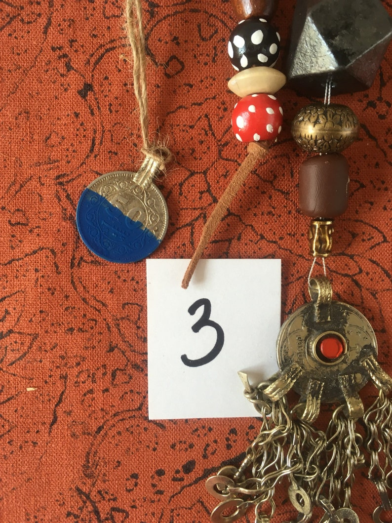 No3 Jack Sparrow Replica Pirate Costume Jewelry Beads Set image 0
