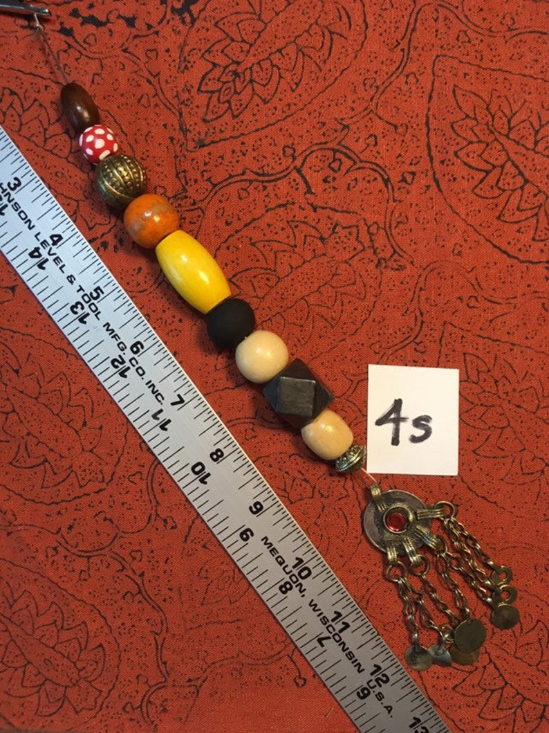No. 4 Single Strand Jack Sparrow Jewelry Kuchi Beads Pirate image 0
