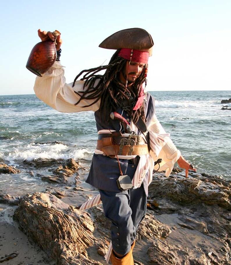 Replica Linen Jack Sparrow Waistcoat Vest Size S 36-40 image 0