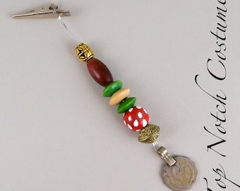 Piece of Eight Jack Sparrow Headscarf Hair Beads Pirate Costume Cosplay Jewelry Strand
