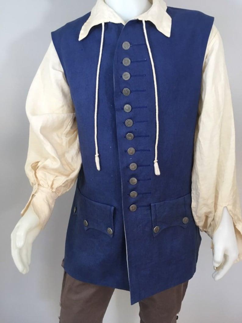 Replica Linen Jack Sparrow Waistcoat Vest Size M 38-42 image 0
