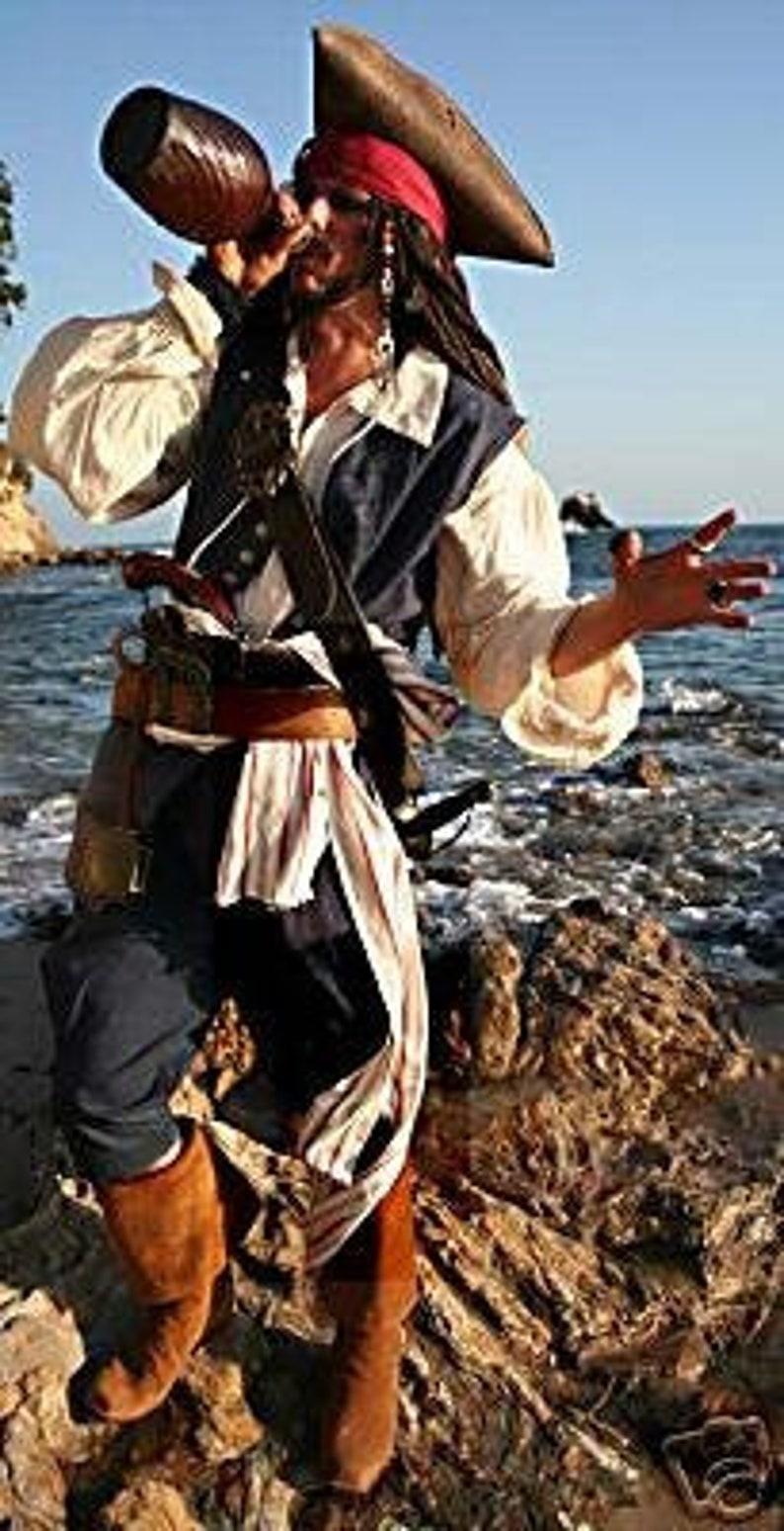 Muslin Captain Jack Pirate Shirt image 0