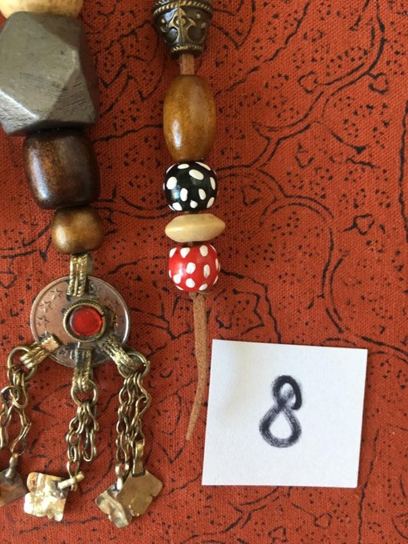 No8 Jack Sparrow Replica Pirate Costume Jewelry Beads Set image 0