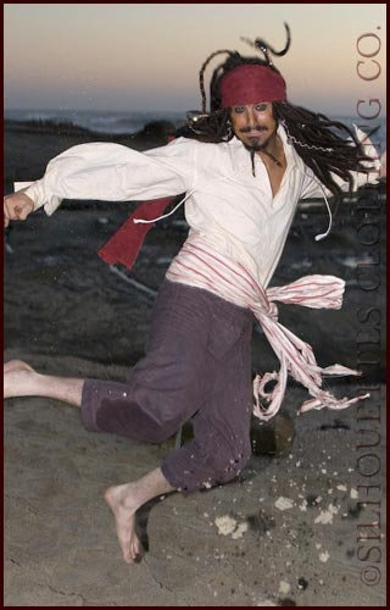 Captain Jack Sparrow Costume Breeches Pants image 0