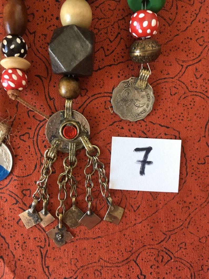 No7 Jack Sparrow Replica Pirate Costume Jewelry Beads Set image 0