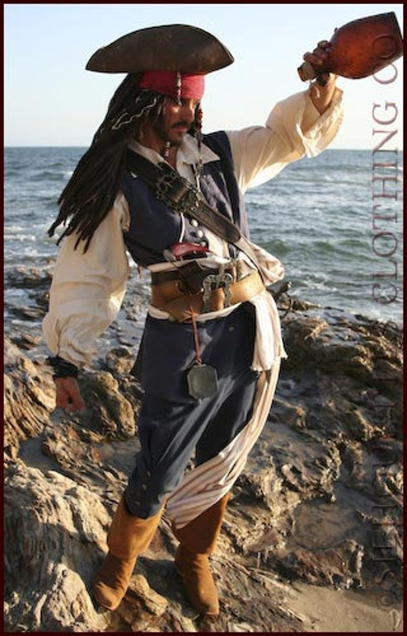 Jack Sparrow Pirate Costume Deluxe image 0