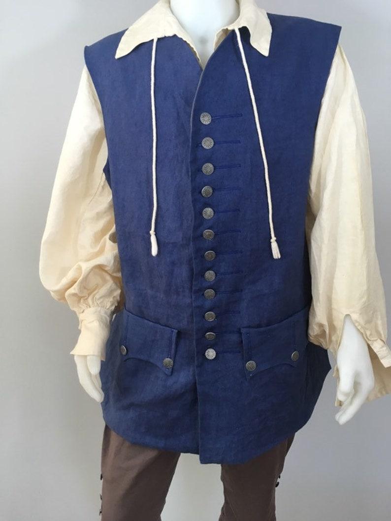 Replica Linen Jack Sparrow Waistcoat Vest Size L 44-48 image 0