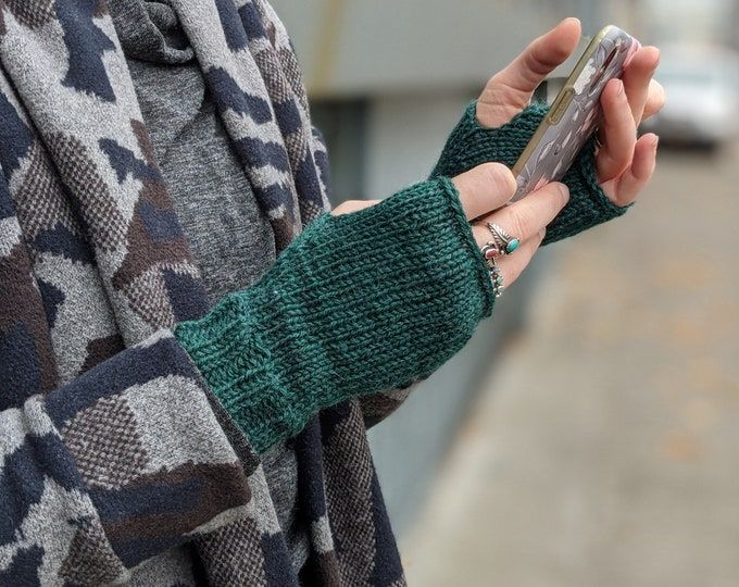 Featured listing image: Adult Fingerless Gloves- Natural Fibers