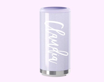 Monogrammed Slim Can Cooler - Personalized Gift - Monogram Initials - Skinny Can Cooler for Hard Seltzer Beer White Claw Drinks 12oz Cans