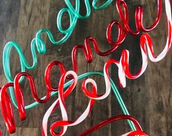 Custom Name Straw - Straws - Custom Straw - Party Straw - Straws Custom - Christmas Gift Ideas - Stocking Stuffer
