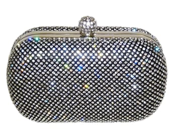 Black Rhinestone Crystal Bridal Clutch db16a13ec9d24