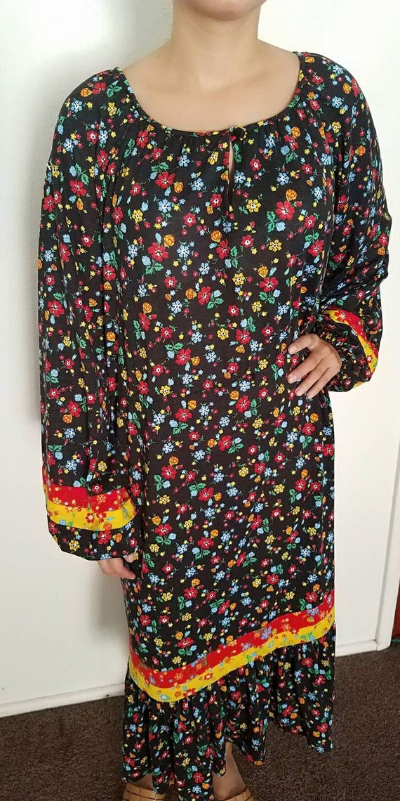 1960s/1970s R&K Originals Vintage Day Dress// Flor