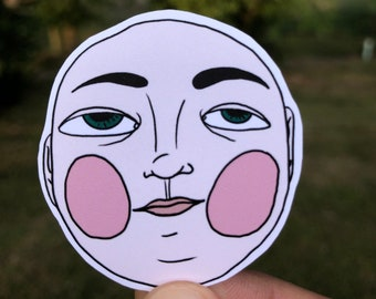 Face Sticker -- ideal for laptops