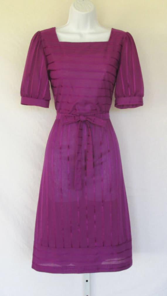 Oops California Dress Purple Ribbon 1960's Dress
