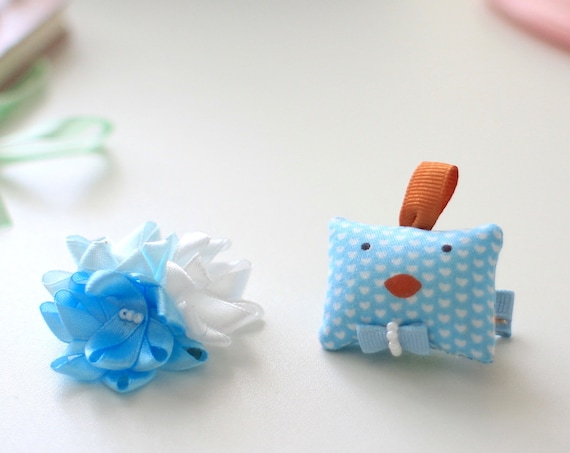 Ready to Ship! Pair of funny ruster hair clip for girls