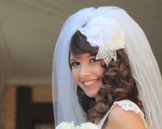 Large bridal floral adornment
