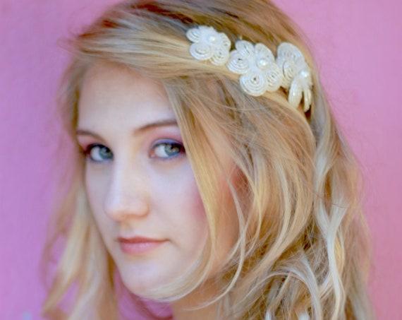 Bridal hair flower set, Wedding hair clip, Beaded flower, Floral hair clip, Hair clip for brides, Bridesmaid hair clip #StyleMaJosephine15