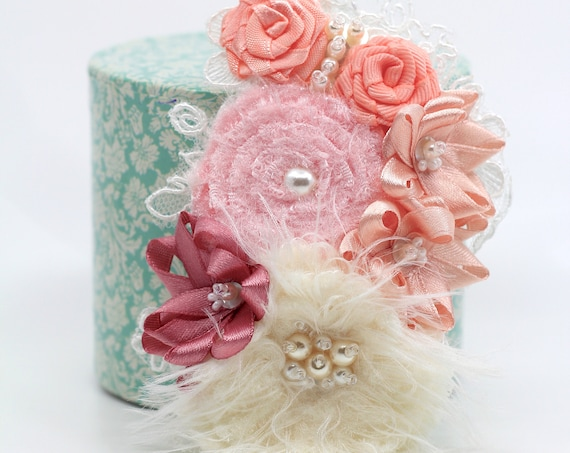 Ready to Ship! Delicate floral girls hair accessory clip