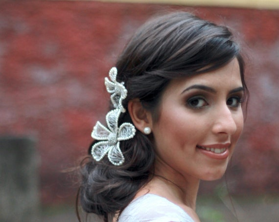 Pearl hair flower bobby pin for brides, mother-of-the-bride, bridesmaids, and divas