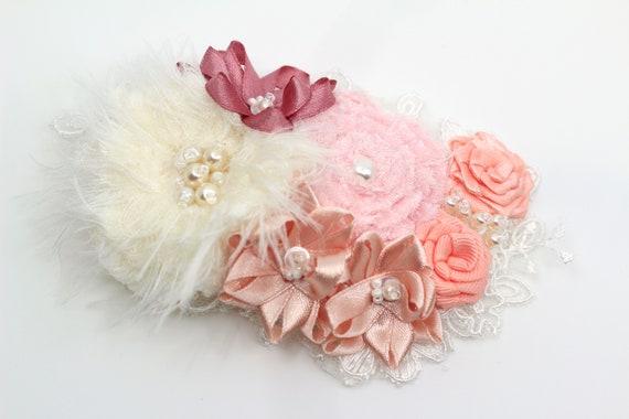 Romantic floral girls hair accessory clip