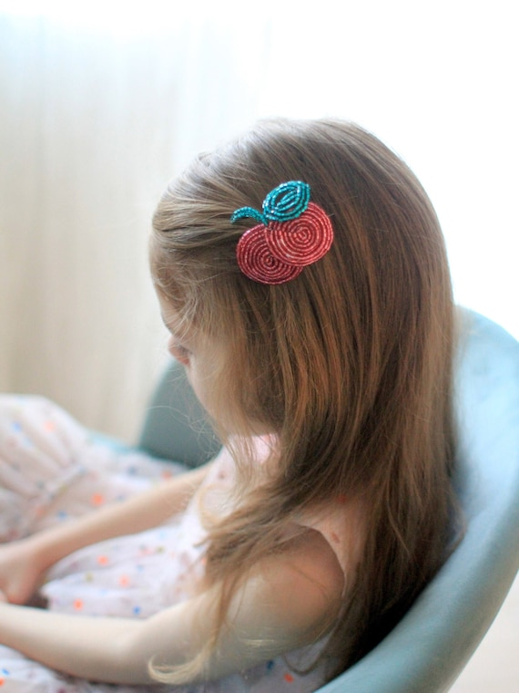 Fashionable sweet berries fruits hair clip for girls