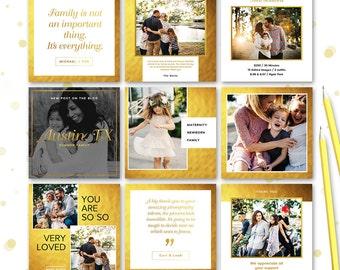 Social Media Post Template for Photographer (Facebook, Instagram, Pinterest, Blog) - INSTANT DOWNLOAD - SMP005