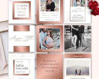 Social Media Post Template for Photographer (Facebook, Instagram, Pinterest, Blog) - INSTANT DOWNLOAD - SMP004