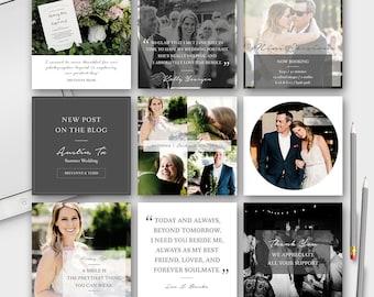 Social Media Post Template for Photographer (Facebook, Instagram, Pinterest, Blog) - INSTANT DOWNLOAD - SMP001