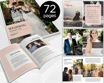 72 Page - Wedding Photography Magazine -  Photoshop Template for Photographer - INSTANT DOWNLOAD - PM005