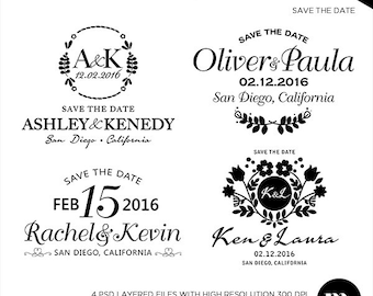 save the date overlay photoshop template instant download etsy