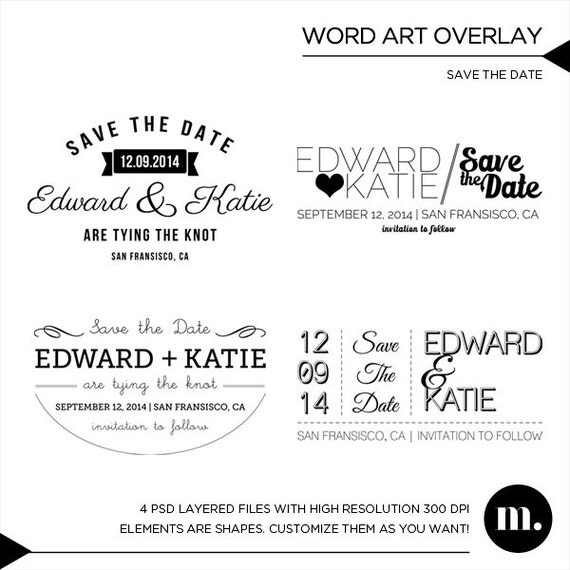 Save the date overlay photoshop template instant download etsy image 0 maxwellsz