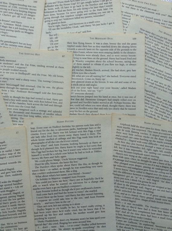 Harry Potter Book Page Lattice
