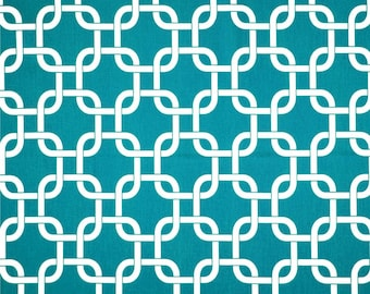 1-1/8 Yards Premier Prints Gotcha True Turquoise - pillow  fabric, modern print fabric. cotton fabric, home decor fabric -B28