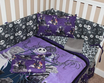 Nightmare Before Christmas Baby Bedding Etsy