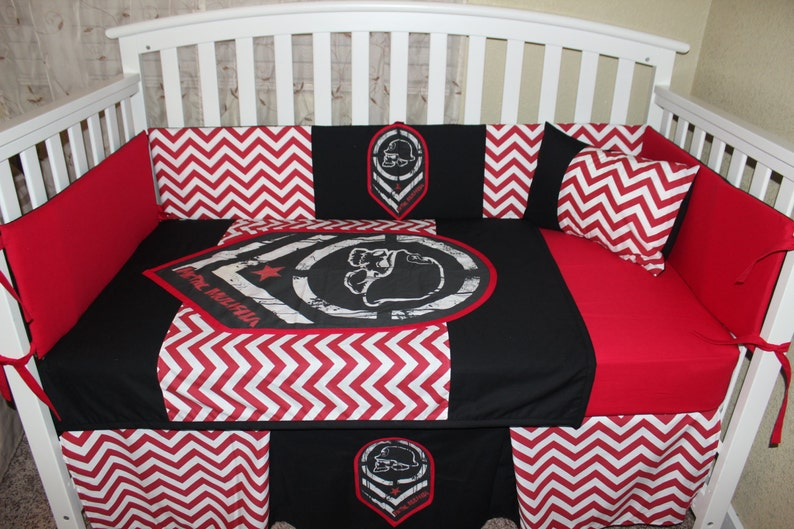 d64797fb4 Metal Mulisha Crib Baby Bedding Set Red Black | Etsy