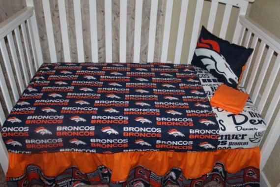 Denver **Broncos** Crib Baby Bedding Set - **Football - NFL**
