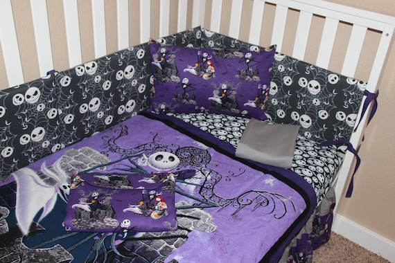 crib bedding set jack skellington nightmare before christmas etsyimage 0