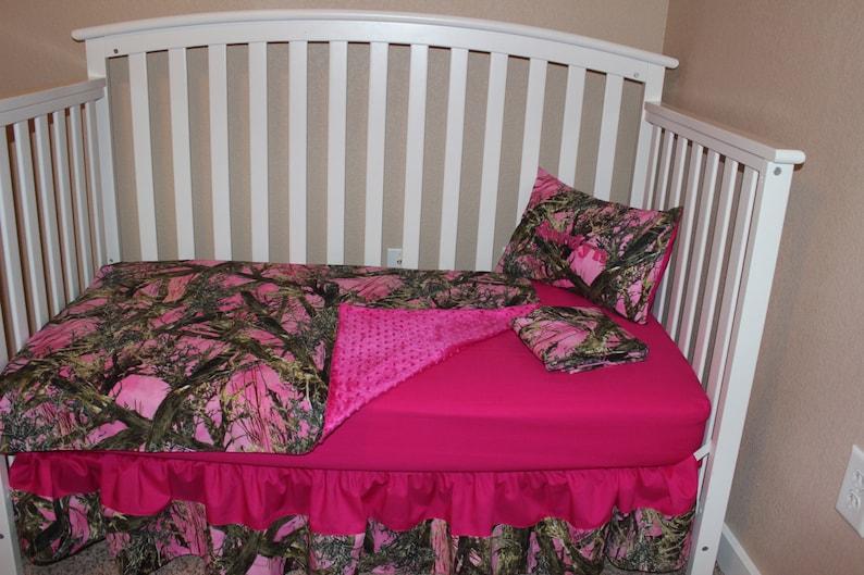 Sheet Skirt Blanket Camouflage Baby Toddler Mossy Oak Camo Crib Set Bedding