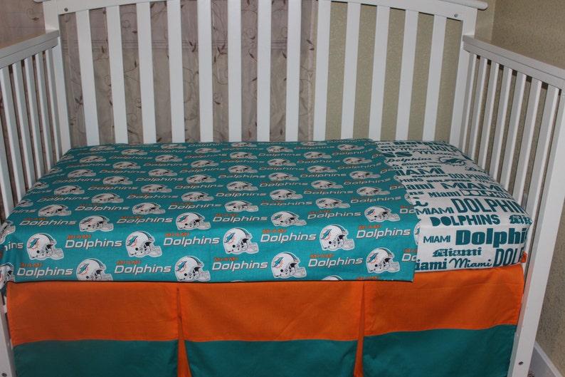 Miami Dolphins Crib Baby Bedding Set NFL Football | Etsy