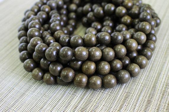 6mm Graywood Round Premium Wood Beads 15 inch strand