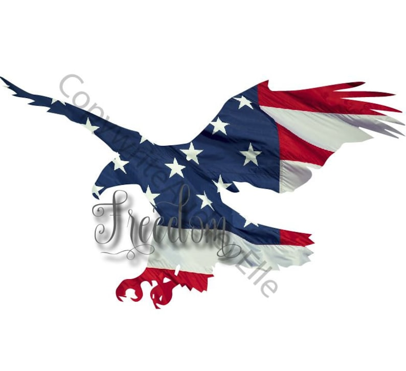 American Flag Eagle Freedom Png Print And Cut Out Etsy