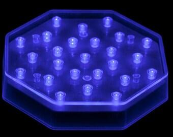 longwave UV 395nm BLUE portable mini UV display light for fluorescent sodalite